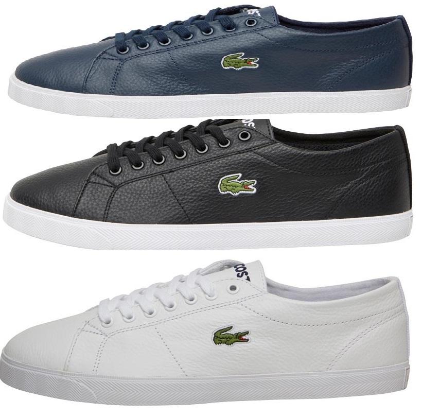 Lacoste Herren Riberac Sneakers Weiß -Schwarz - Navy Größe 39,5 --47   + zzgl. Versandkosten