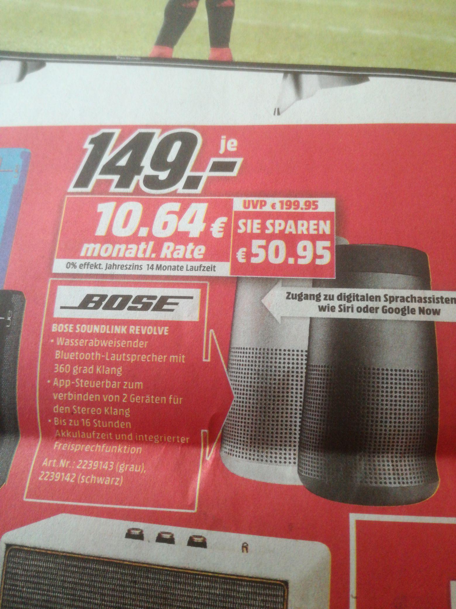 MEDIA MARKT DORTMUND OESPEL Bose Soundlink Revolve