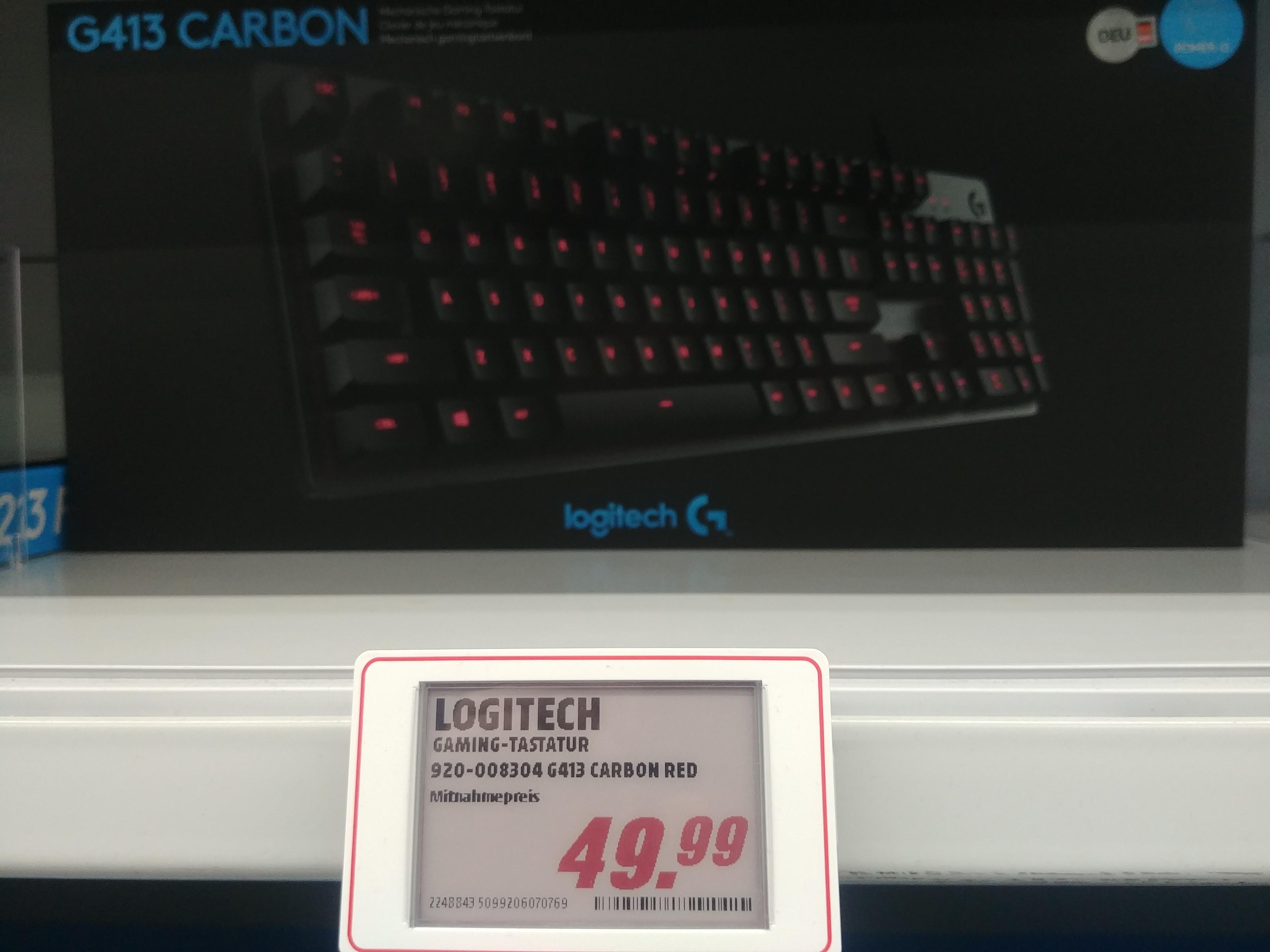 [Lokal MM Gießen] Logitech G413 Carbon Gaming-Tastatur