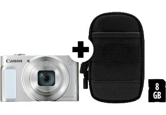 MM: Canon PowerShot SX620 HS Digitalkamera + Tasche + 8GB-SDHC (20,2 Megapixel, 25-fach optischer Zoom, 50-fach ZoomPlus, 7,5cm (3 Zoll) Display, opt Bildstabilisator, WLAN, NFC) 182g, silber, versandkostenfrei