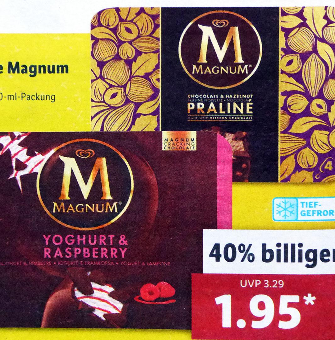 Magnum Eis 4er Pack für nur 1,95€ (Lidl)
