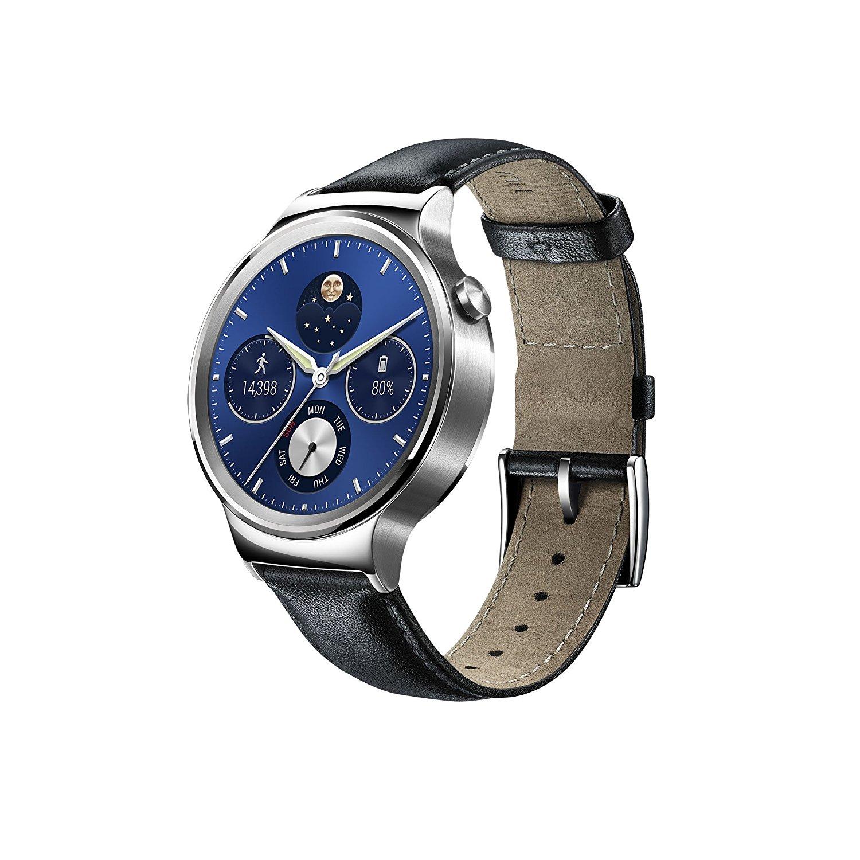 Huawei Watch W1 Classic (Smartwatch) mit Lederarmband schwarz