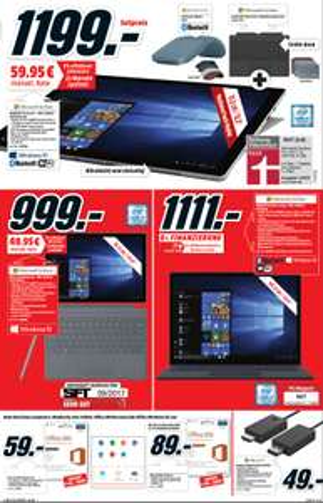 [Lokal MM Sulzbach] Microsoft Surface Pro i5 8GB RAM 256GB SSD inkl. Typecover Inkl.  Arc Maus