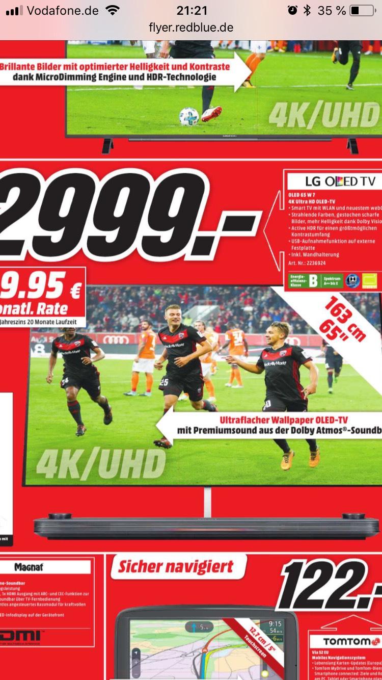 Lokal Media Markt Stuttgart Sammeldeal zb. LG OLED W7V für 2999