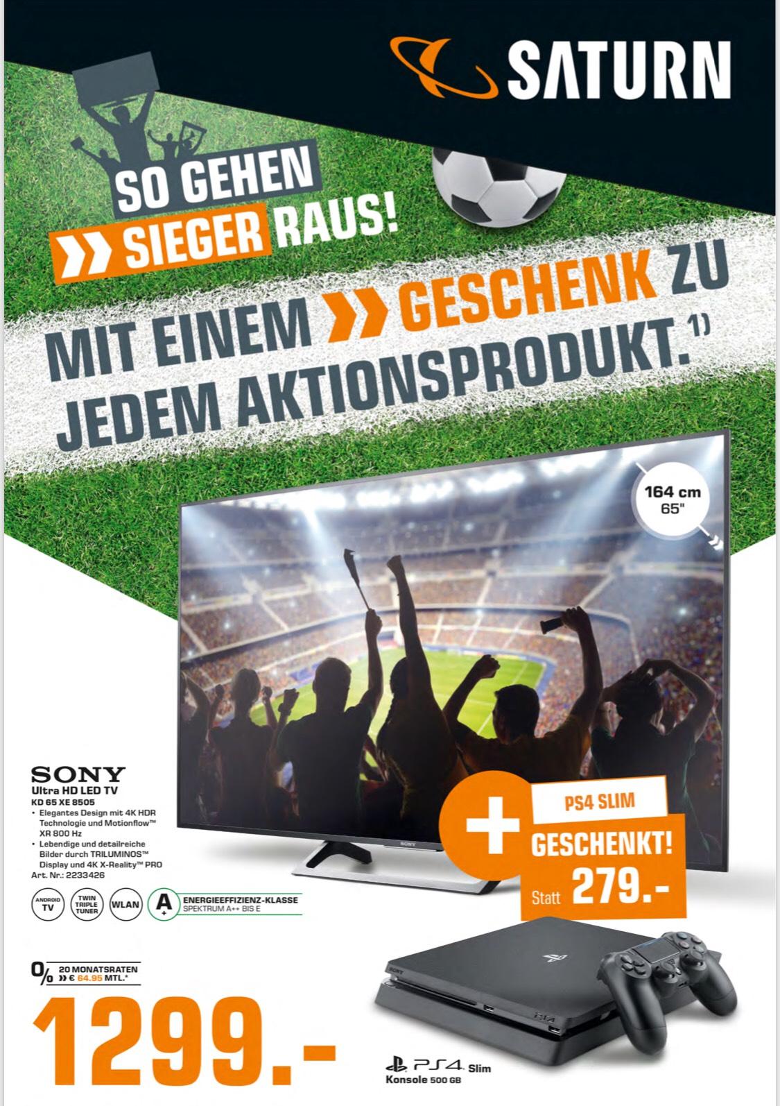 65XE8505 für 1299€ inkl. PS4 (236€ EBay) PVG. 1299€ Ohne