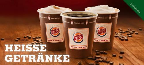 Burger King Probierwochen: Cappuccino, Kaffee oder Milchkaffee  je 50 Cent