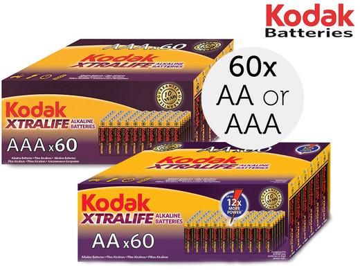 60x Kodak Alkaline-Batterien | AA oder AAA