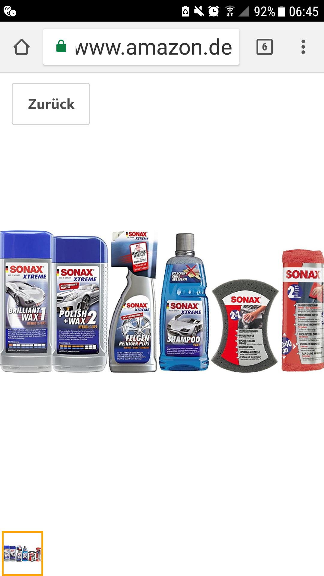 SONAX AutopflegeSet , 6 Teile wieder verfügbar