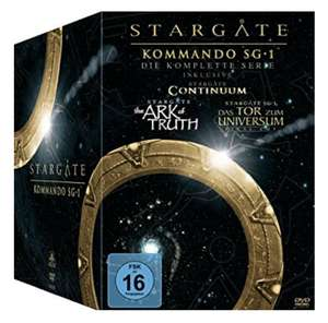 [Amazon] Stargate Kommando SG-1 - Die komplette Serie - inkl. Continuum, The Ark of Truth - 61 DVDs