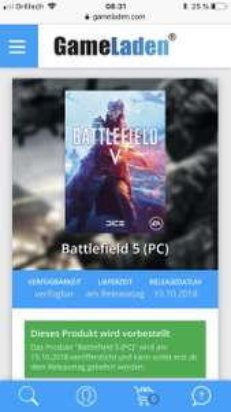 Battlefield V (PC) für 48,50€ bei gameladen.com vorbestellen