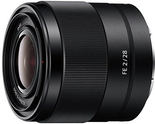[Cashback] Sony SEL-28F20 Weitwinkel Objektiv (Festbrennweite, 28 mm, F2, Vollformat, geeignet für A7, A6000, A5100, A5000 und Nex Serien, E-Mount) schwarz