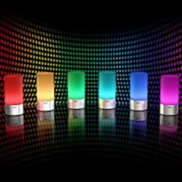 Tischlampe, 360° Berührungssensor Nachttischlampe mit RGB Farbwechsel Tischleuchte1 Warmweißes Licht in 3 Helligkeitsstufen