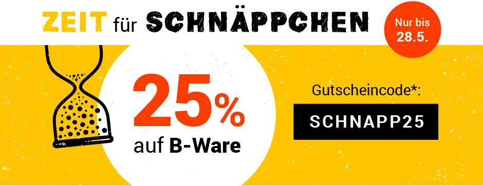 25% Rabatt auf B-Ware, ohne Mindestbestellwert bei Medimops