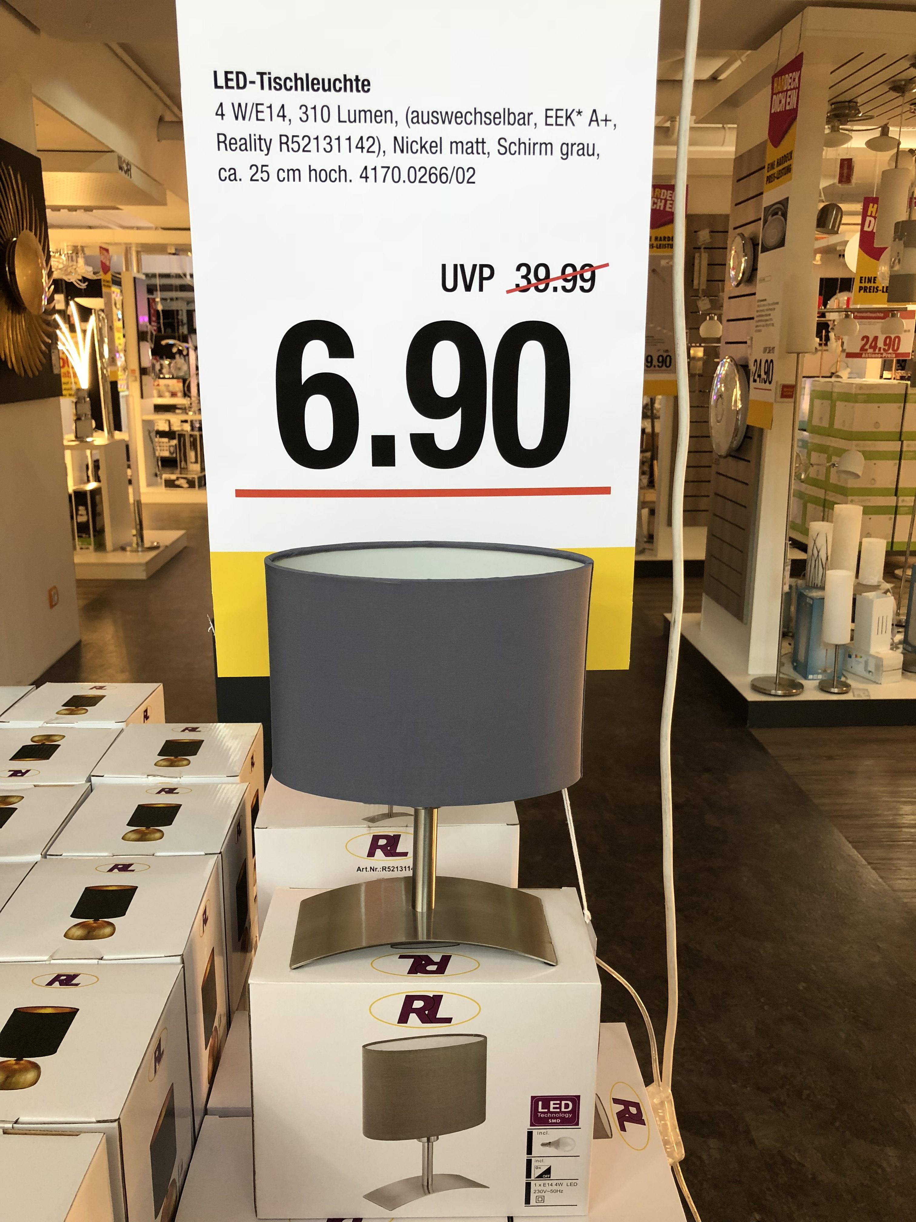 Tischleuchte Jing in Nickel matt für nur 6,90€