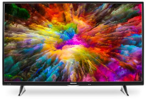 "Medion Life X15512 55"" 4K UHD Smart TV (138,8 cm, HDR, LED-Backlight, 350 cd/m², Triple Tuner mit DVB-T2, WLAN, PVR, Bluetooth, Netflix, DTS HD)"