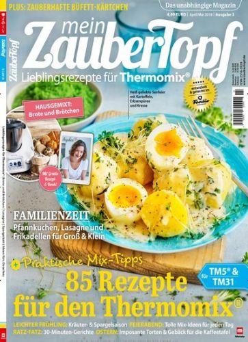 """""""mein Zaubertopf"""" Kombi-Abo (8 Ausgaben Print + Digital) inkl. 2 Sonderhefte zum Thema Zubereitung mit dem Thermomix + 2 Gärkörbchen (i.W.v. 29,57 €) für 29,95 €"""