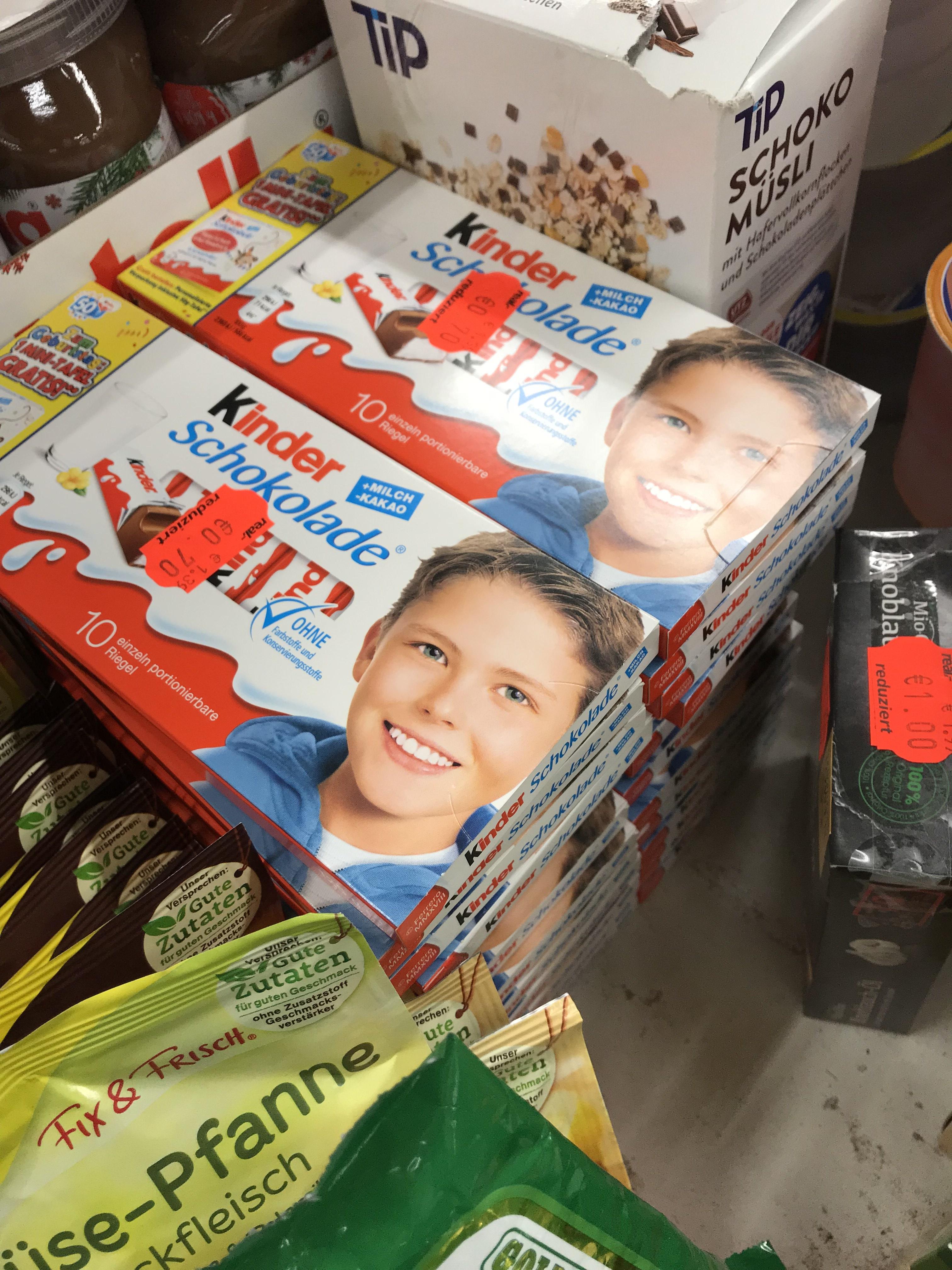 Lokal Real Ratingen Kinderschokolade