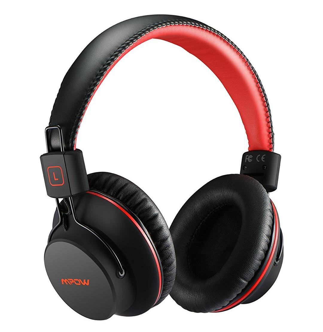 [Amazon Prime] Mpow Bluetooth 4.1 Kopfhörer Over Ear Headset, 20 Stunden Spielzeit, On-Ear Steuerung, rot