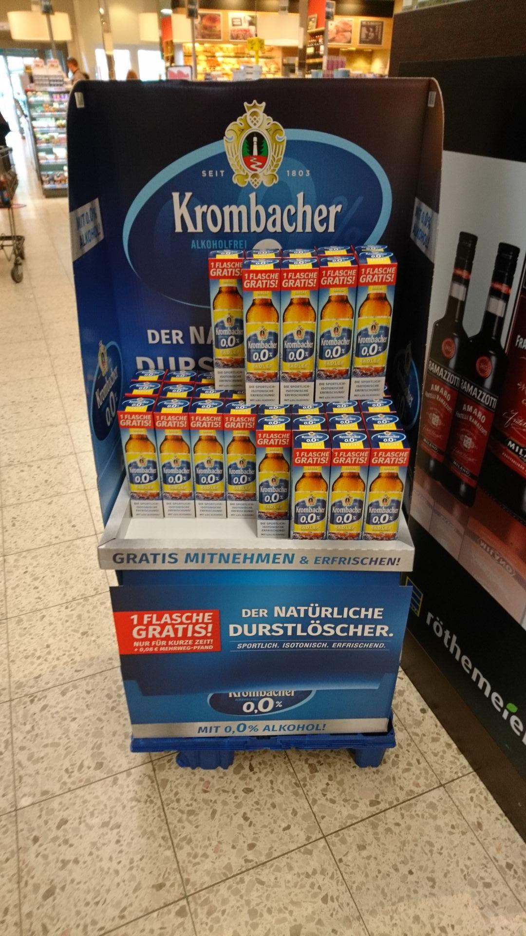 [EDEKA Röthemeier, Minden] Krombacher Alkoholfrei 0,0% Radler Gratis (+ 8 Cent Pfand)