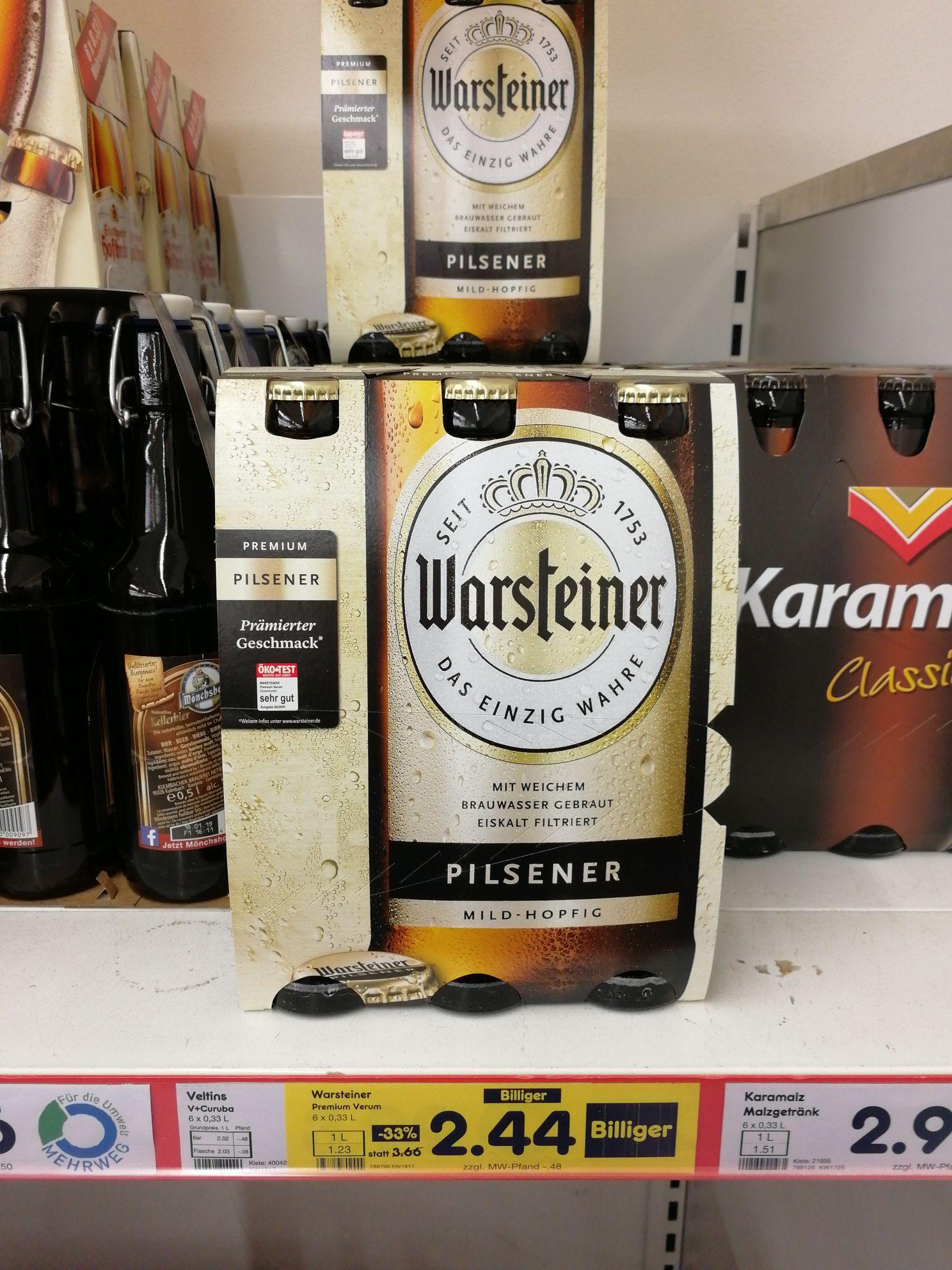 Warsteiner 6x 0,33l  bei Netto Altusried *lokal*