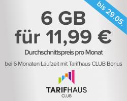 [Tarifhaus] 6GB/Monat + Flat Telefonie & SMS (6 Monate MVL)