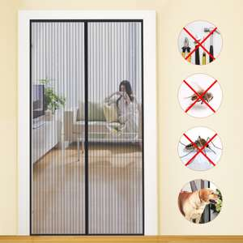 MYCARBON Fliegengitter Tür Insektenschutz Magnet Fliegenvorhang110*220