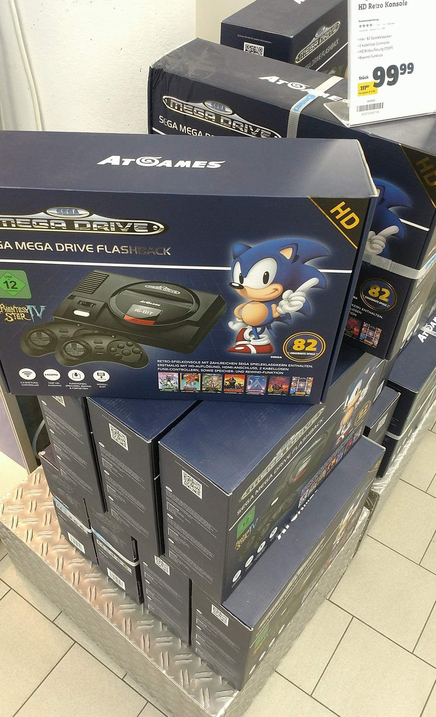Sega Mega Drive mit 82 Games