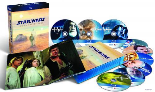 Star Wars The Complete Saga I-VI mit Bonus Material im Blu-Ray Format mit Deutschen Ton
