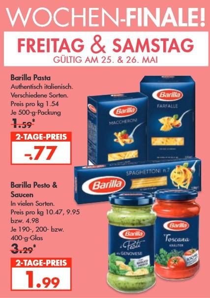 [ Karstadt Lebensmittel bundesweit ] Barilla 500g verschiedene Sorten für 0,77€ je Packung / Barilla Pesto für 1,99€