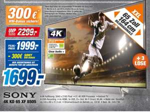 Sony 65XF8505 PVG 1939€ bei Expert 1699€