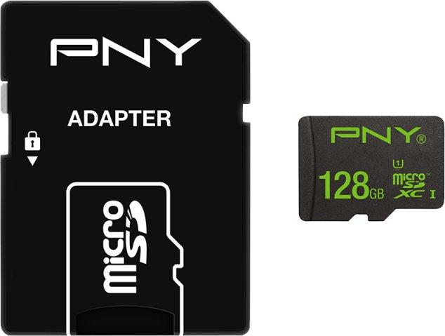 PNY High Performance microSDXC mit 128GB für 25,62€ (MyMemory)