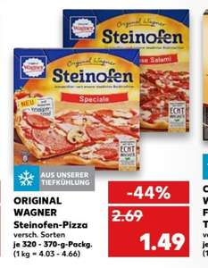 (Kaufland) 2 Original Wagner Steinofen Pizzen Dealpreis = angebot+coupon