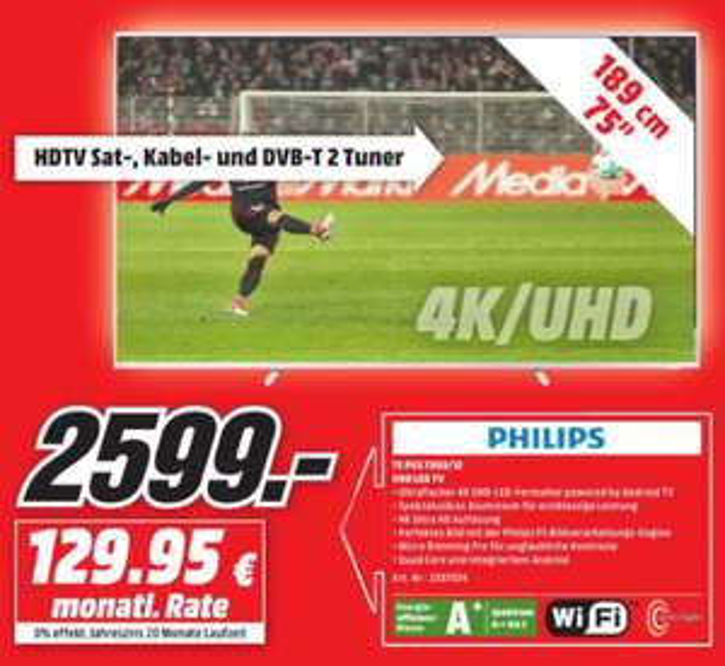 [Lokal] Media Markt Elmshorn - Philips 75PUS7803