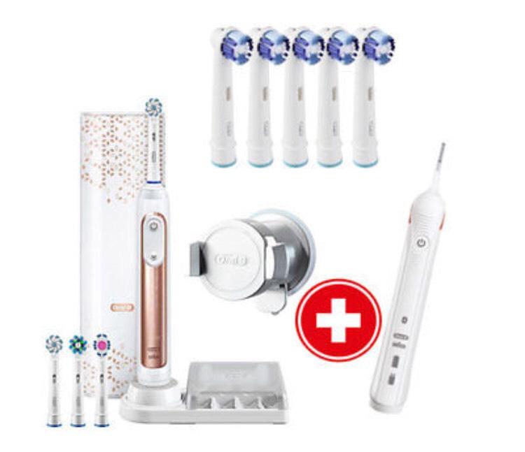 Oral-B Genius 9000S Rosegold Elektrische Zahnbürste + GRATIS Precision Clean 4+1