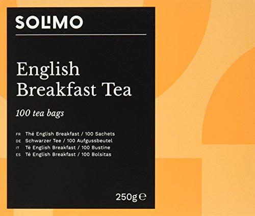 Amazon Marke - Solimo - Schwarzer Tee, Aufgussbeutel - 100 Aufgussbeutel x6