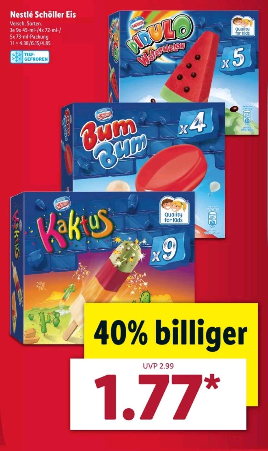 """(LIDL) Ab 28.05  """" Nestle Schöller Eis"""