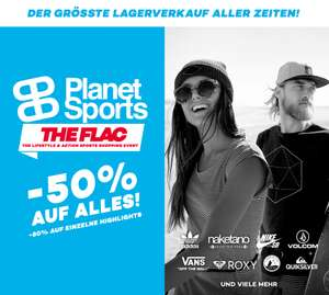 "[Lokal Dresden] Planet Sports Sale ""The Flac!"" - 50% auf alles; kostenlose Hot Dogs"