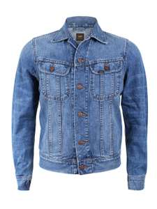 Blaue LEE Herren Jeansjacke Rider in Slim Fit