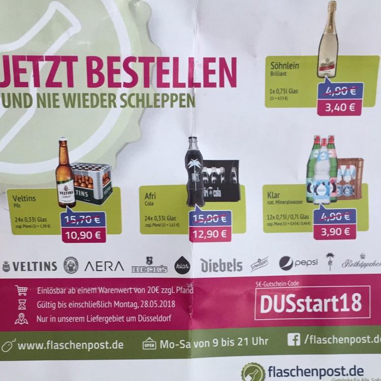 (Lokal Düssledorf) 2x 24er 0,33L Kisten Veltins (zzgl. Pfand) inkl. Lieferung