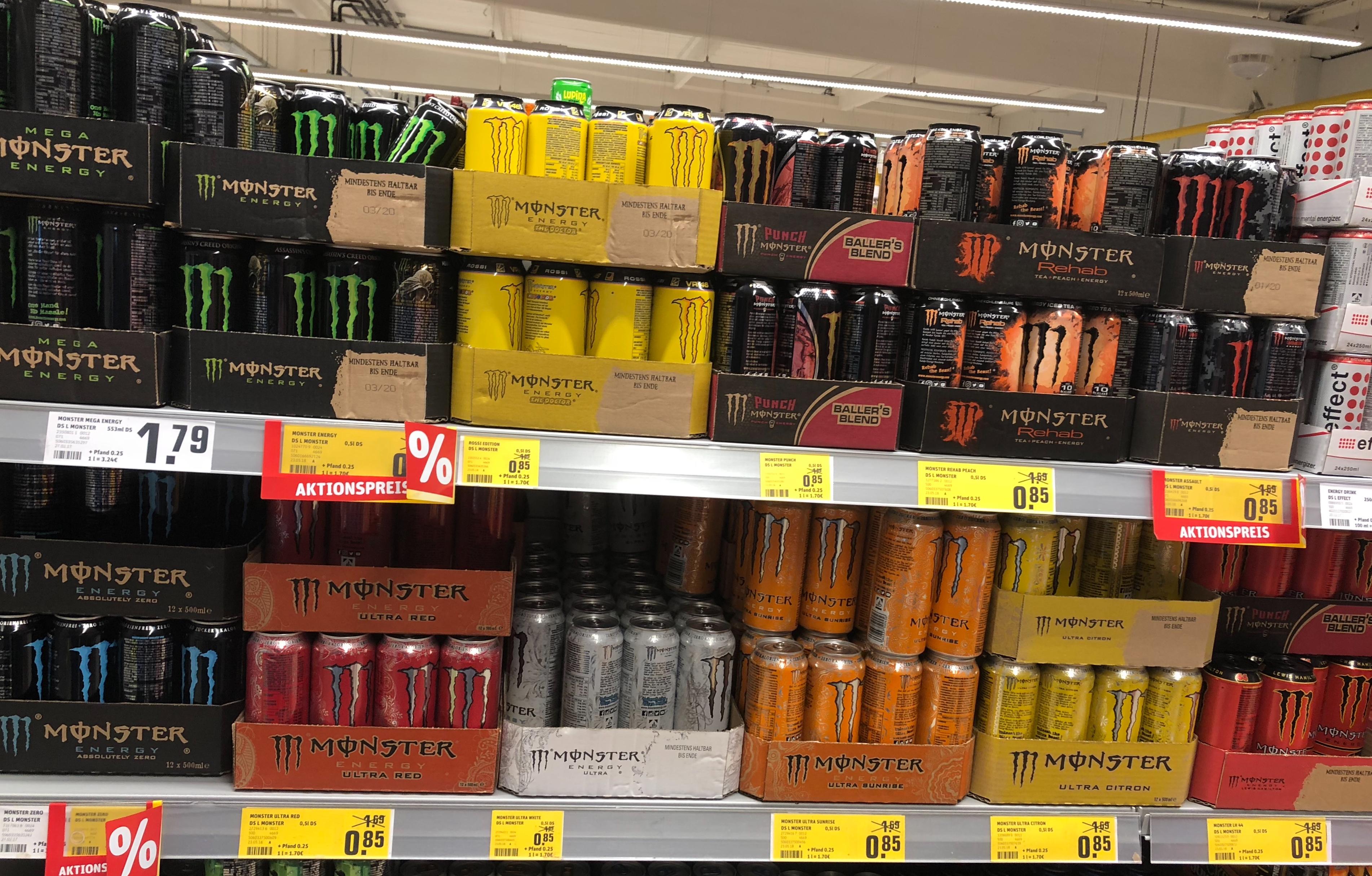 [ REWE] Monster viele Sorten  0,85 €