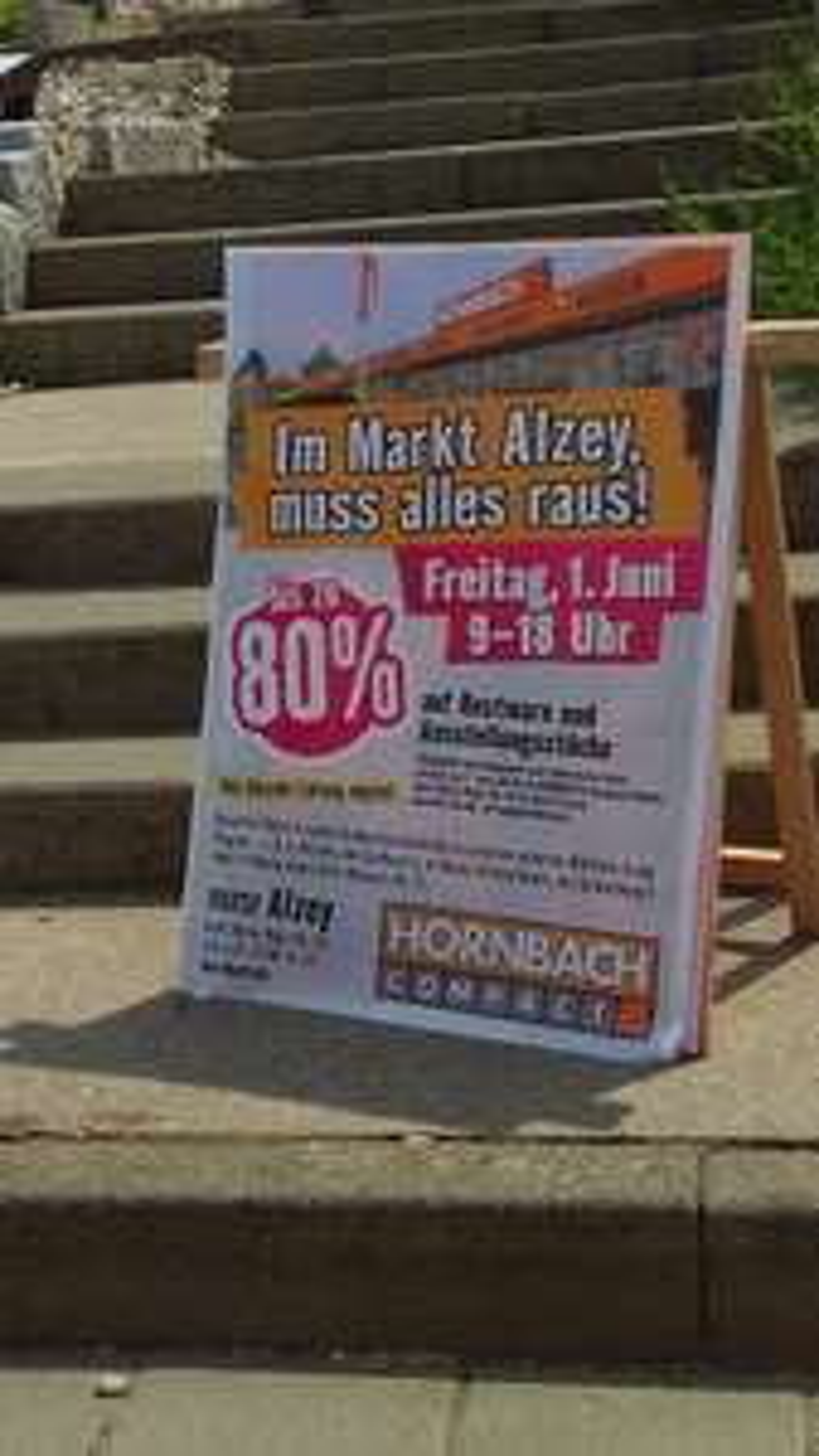 Lokal Hornbach Alzey Abverkauf bis zu 80%