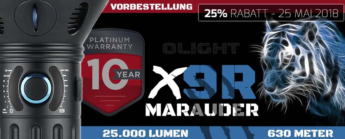 Olight X9R mit 25000 Lumen zur Vorbestellung mit 25% Rabatt