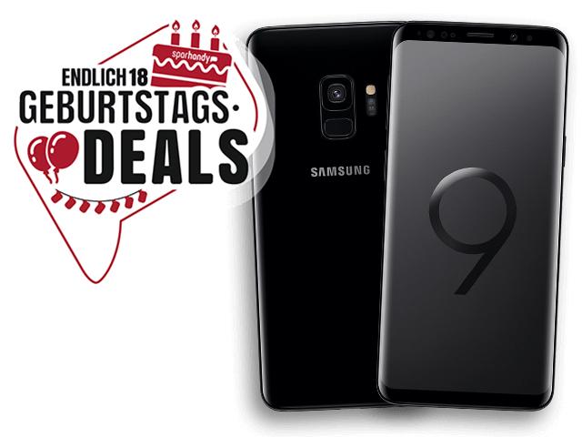 Samsung Galaxy S9 mit 64 GB, Dual-SIM für 18,- € + 24,99 €/Monat Allnet- und SMS-Flat + 5 GB LTE Blau Allnet XL Ohne DatenAutomatik, Anschlusskostenfrei