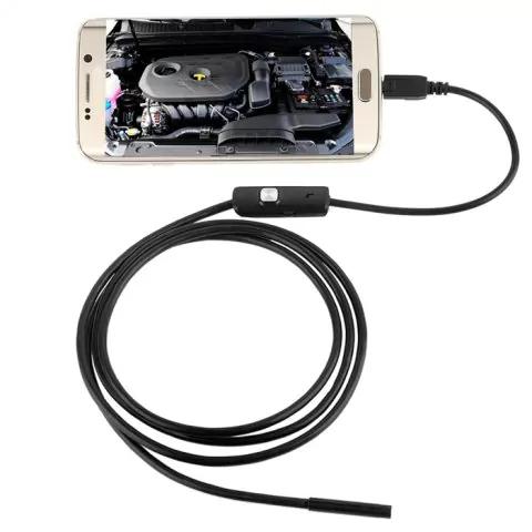 Endoskop USB Kamera - Für Laptop, Handy oder Tablet - 3,5m lang / 6 regelbare LEDs / Wasserdicht