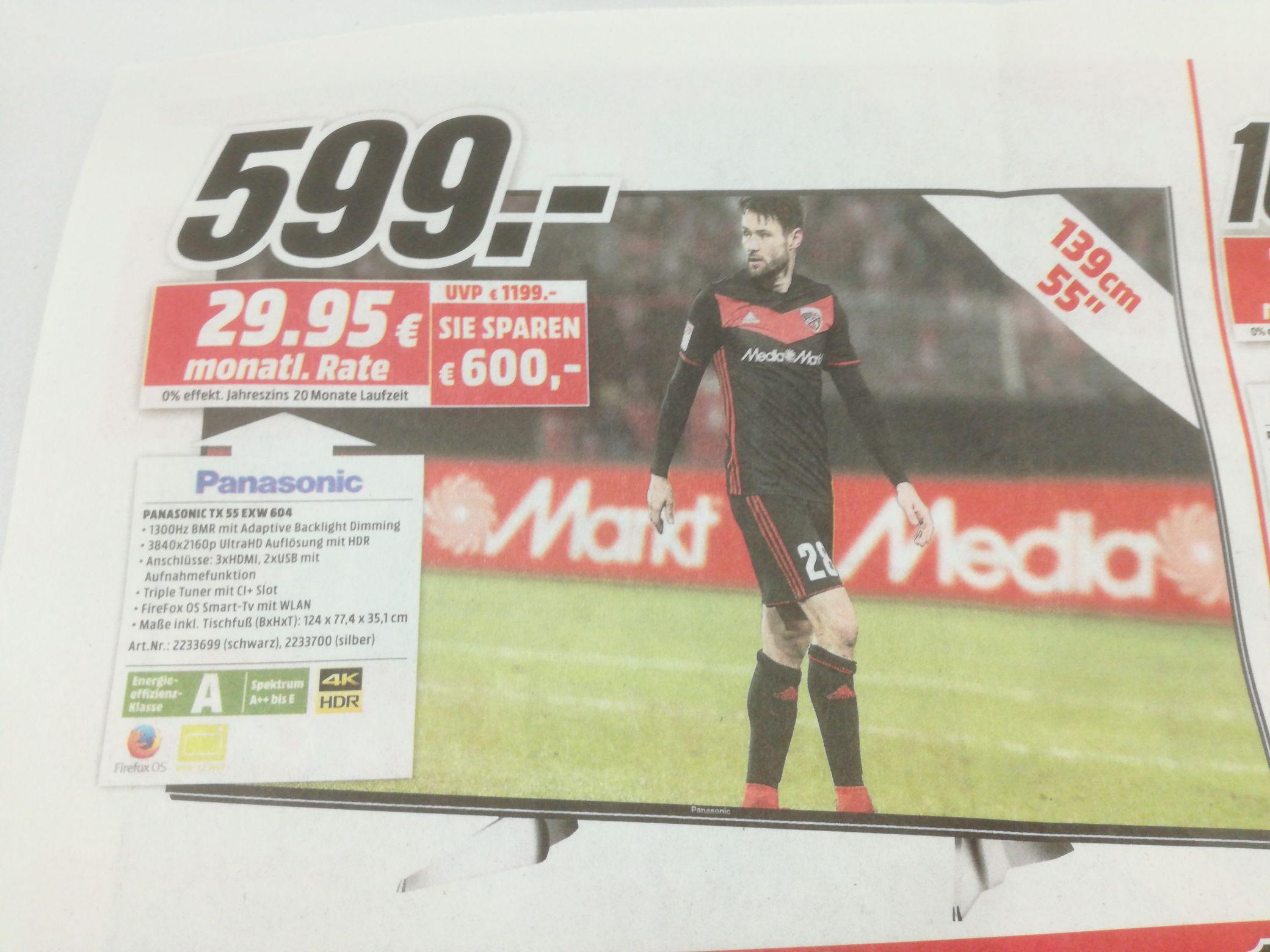 Panasonic TX-55 EXW 604 Media Markt Dortmund Oespel