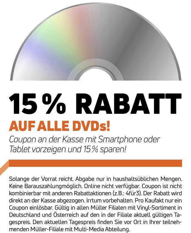 [Müller] 15% auf DVDs