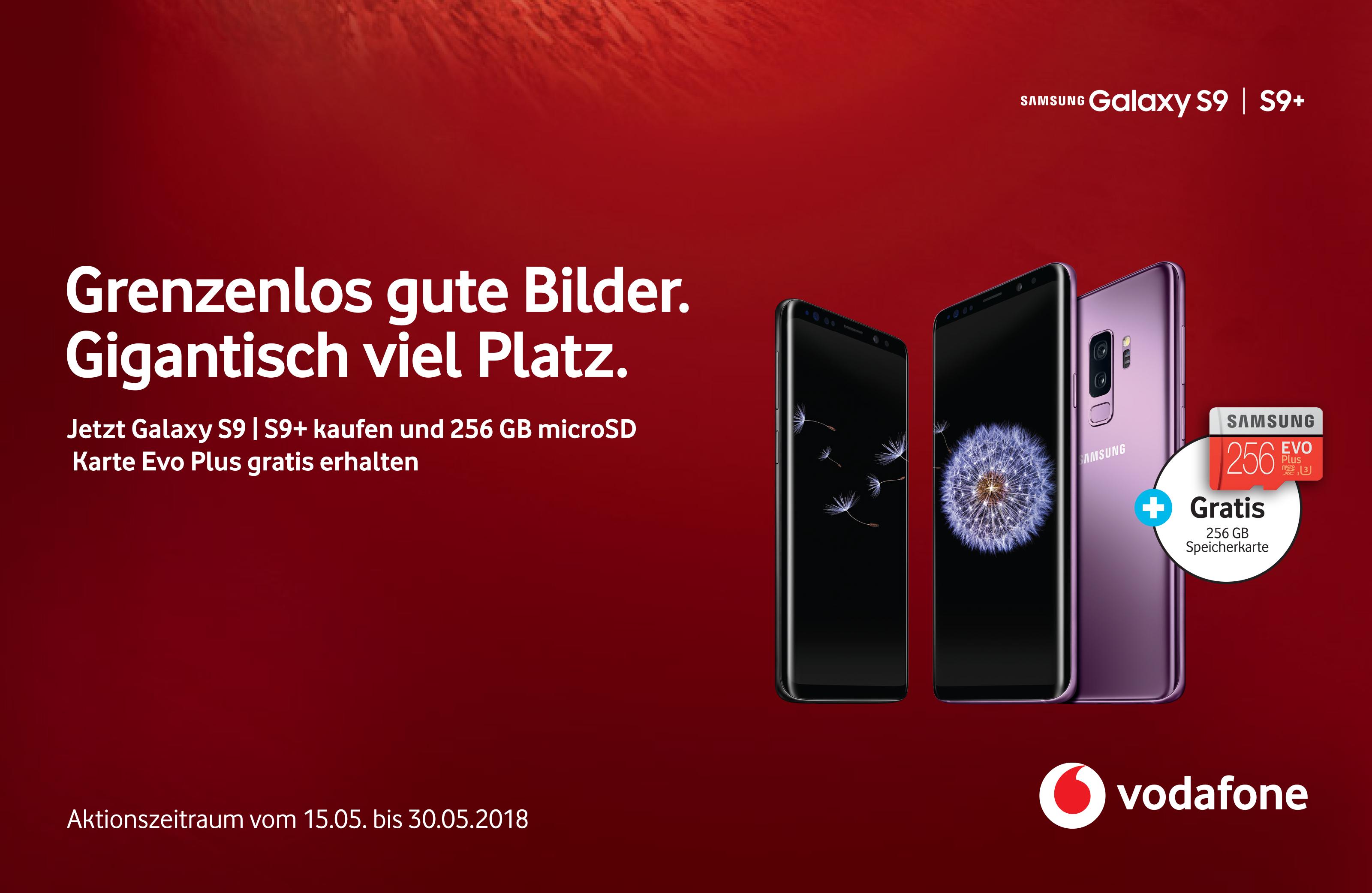 VODAFONE Samsung Galaxy S9 od. S9+  kaufen / Vertrag und gratis 256GB SD Karte dazu