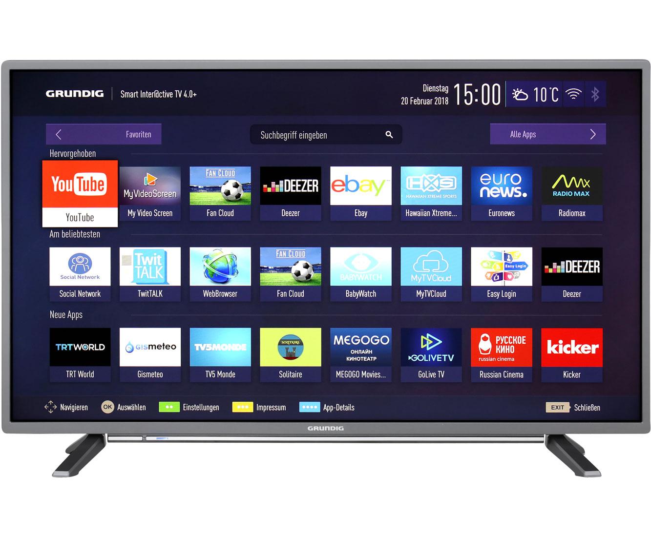 Sammeldeal: verschiedene Grundig TVs bei AO.de reduziert - z.B. Grundig 43 GFT 6728 Full HD für 279€ oder Grundig 65 GUB / GUS 9790 UHD für 999€