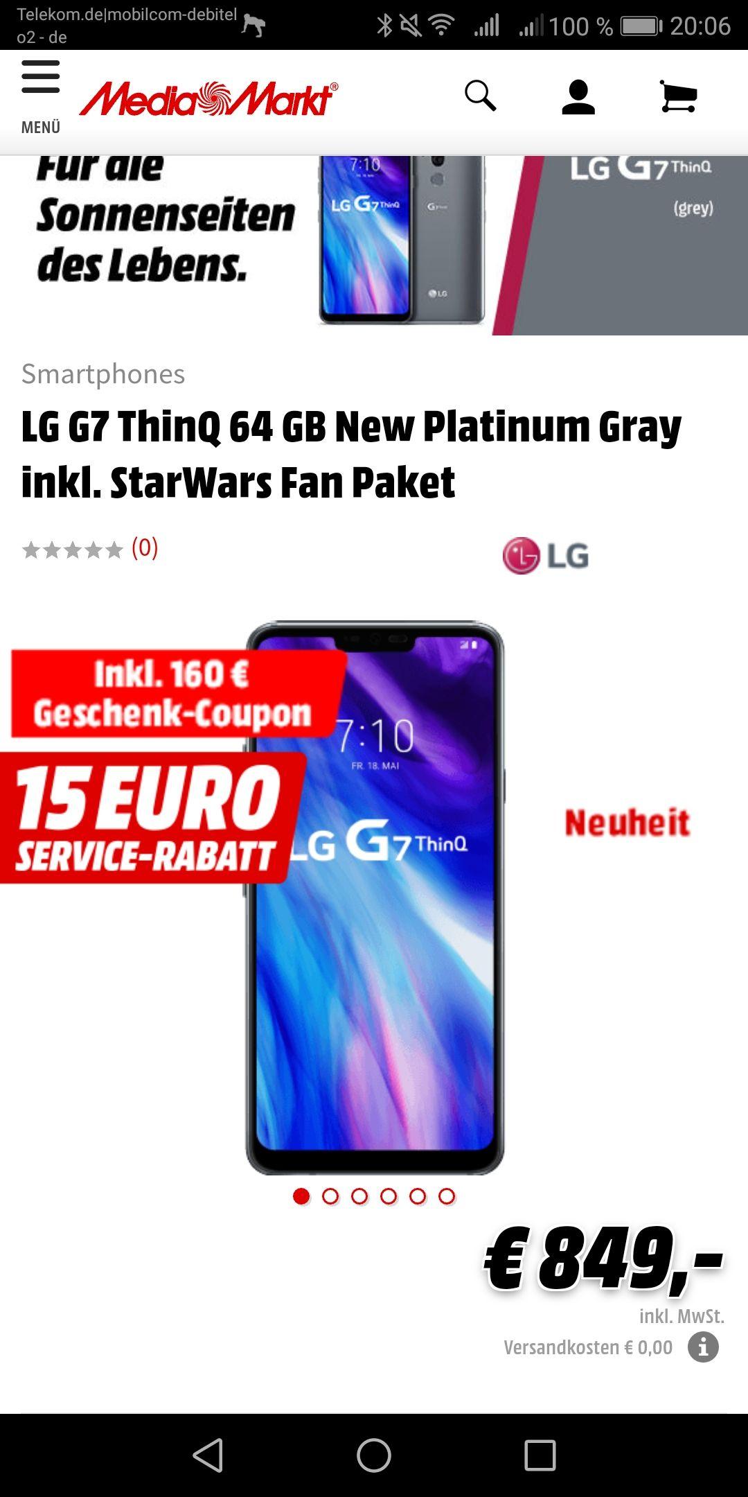 LG G7 ThinQ Pre-order Aktion bei Media Markt und Saturn