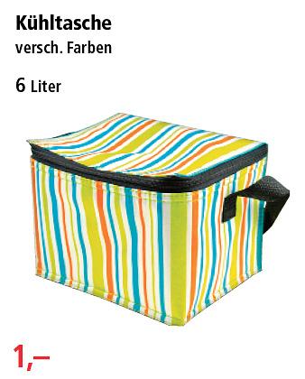 Kühltasche, 6 Liter, div. Farben - [PHILLIPPS] rundet ab ab 28.5.2018